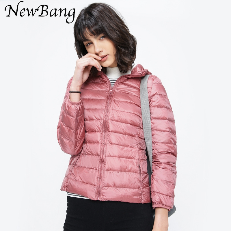 2017 Casual Women's Ultra Light   Down   Jacket Hoodie Winter   Coats   With Carry Bag Portable Parka Colorful Outwear 12 Colors