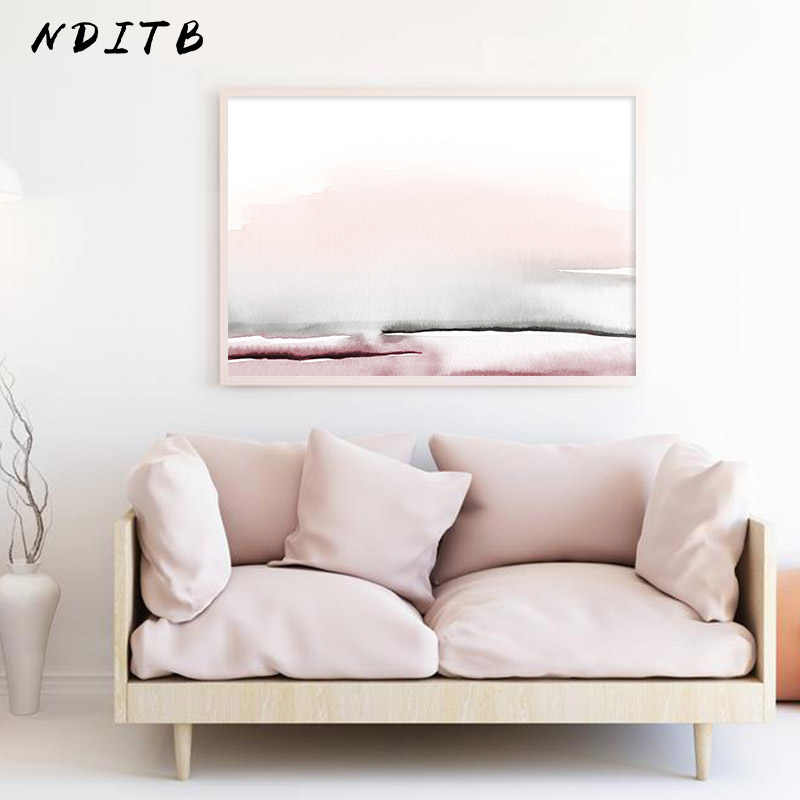 Watercolor Abstract Canvas Poster and Print Scandinavian Style Painting Decorative Picture Modern Living Room Nordic Decoration