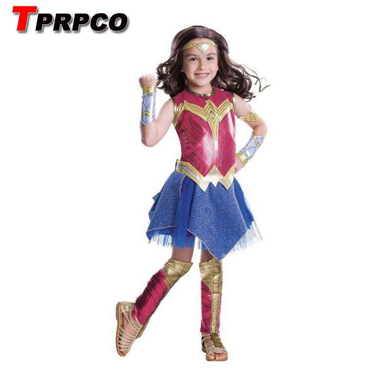 TPRPCO Deluxe Child Dawn Of Justice Wonder Woman Costume Wonder Girl Cosplay Dress