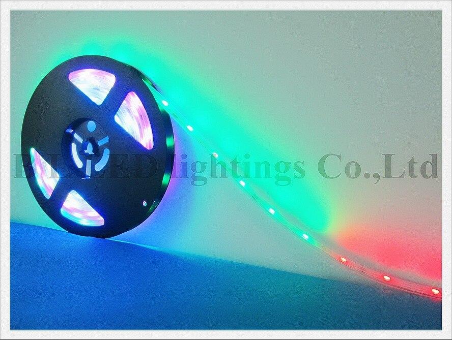 WS 2811 RGB волшебный свет Газа SMD 5050 мягкий полосы DC12V SMD5050 30led/M с силиконовой трубки водонепроницаемый WS2811 ce rohs