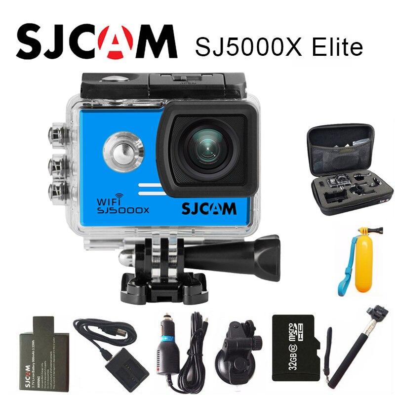 SJCAM SJ5000X Elite Sport Action Camera Gyro WiFi 4K 24fps HD Diving 30M Waterproof NTK96660 SJ CAM Sports DV soocoo c100 action camera 4k wifi sports dv full hd 1080p gyro 30m waterproof diving mini camcorder 2 0 inch ntk96660 sport cam