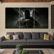 Canvas HD Prints Pictures Wall Artwork Painting 3 Pcs Rainbow Six Siege Game Home Decor Modular Poster For Living Room Framework(China)