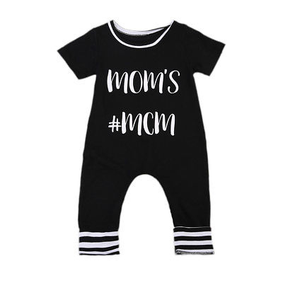 0-24M Newborn Baby Boys Girls Clothes Long Sleeve Cotton Boss Bodysuit Infant Todder Kids Clothes Playsuit