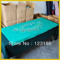 ZB-009   Non-woven fabric   Texas Holdem Table Cloth for Baccarat game