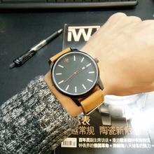 Marque de mode Mens Quartz-montre CMK Haute Qualité Casual En Cuir Montre Hommes Quartz Horloge Calendrier Hommes de Montre Brun reloj hombre