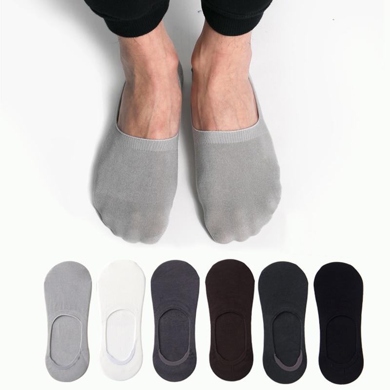 Modal Thin Short Socks Cotton Low Cut Socks Invisible No Show Socks Non-slip Men Crew Male Silica Gel Antiskid  Summer 1pair