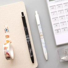 цена 4 pcs Marble gel pen 0.5mm  Black color ink pen gift Stationery Office accessories School supplies FB503 онлайн в 2017 году