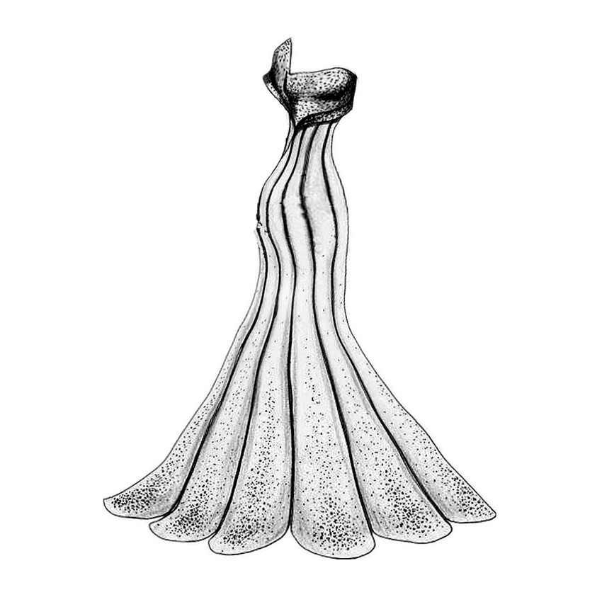 PANFELOU Các Oceanid wedding dress thủ công kim loại giấy chết cắt chết Scrapbooking/DIY Dập Nổi Valentine thẻ Ngày của