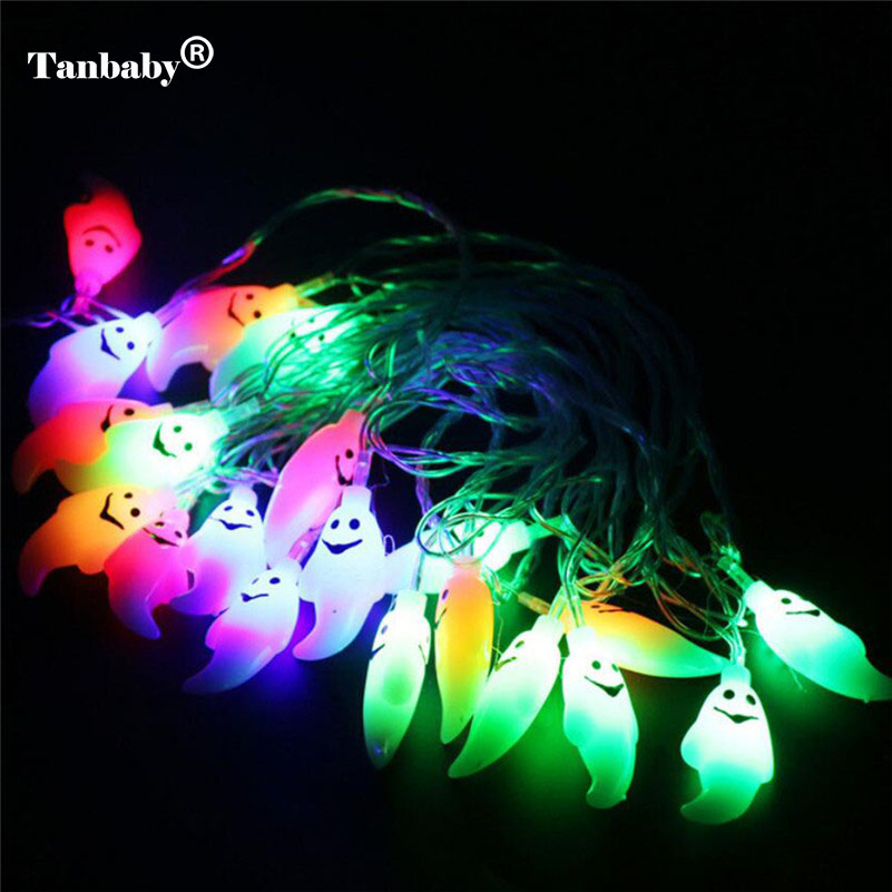 Tanbaby Halloween String Lights 4M 20 Led Waterproof Ghost Light AC 220V Changeable Indoor Outdoor Home Party Decoration Lamp