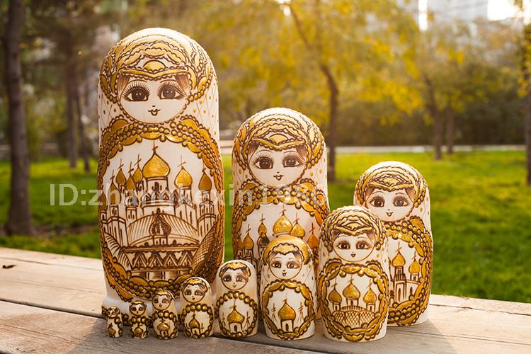 Limited Edition 10 Layers/Set Matryoshka Doll Wooden Russian Nesting Dolls Traditional Wishing Dolls Kid Toys Gift Collection