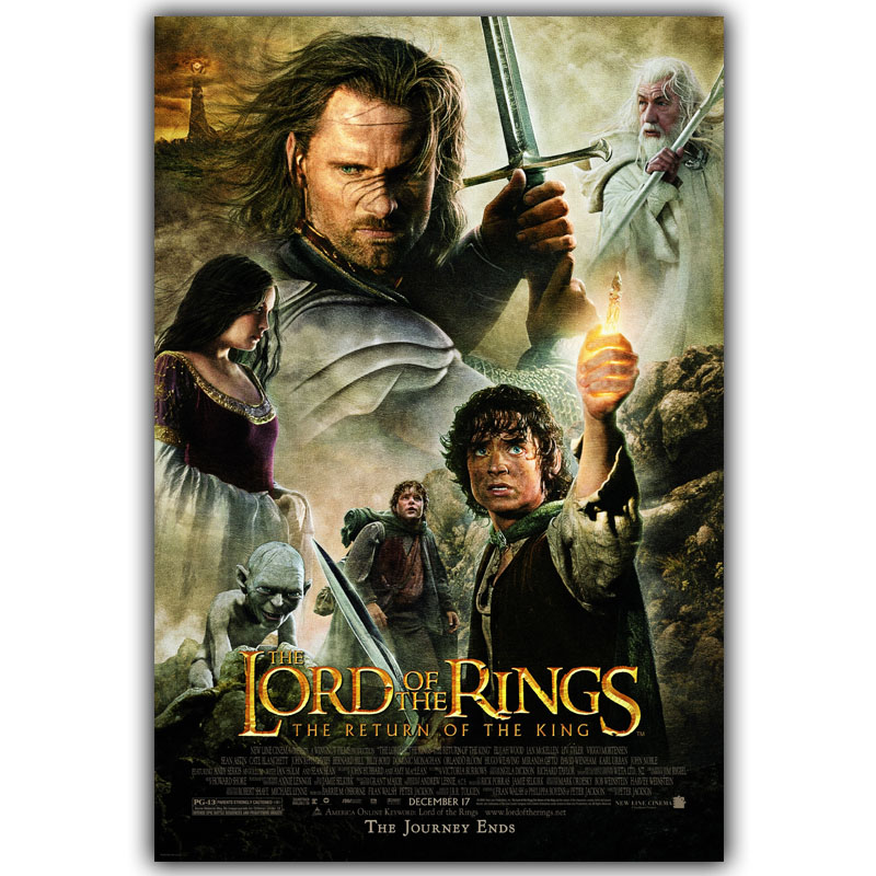 Lord of the Rings Movie Art Silk Poster Print 30x45cm 60x90cm Movie Pictures Living Room Decor image
