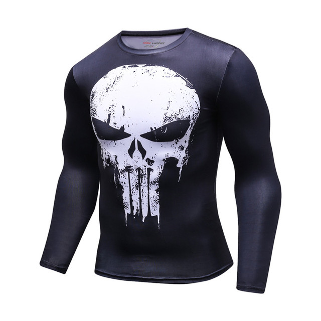 3D Printed T-shirts Men Compression Shirt Men's MMA Tshirt Long Sleeve Quick dry Workout Bodybuilding Fitness Tops T shirt