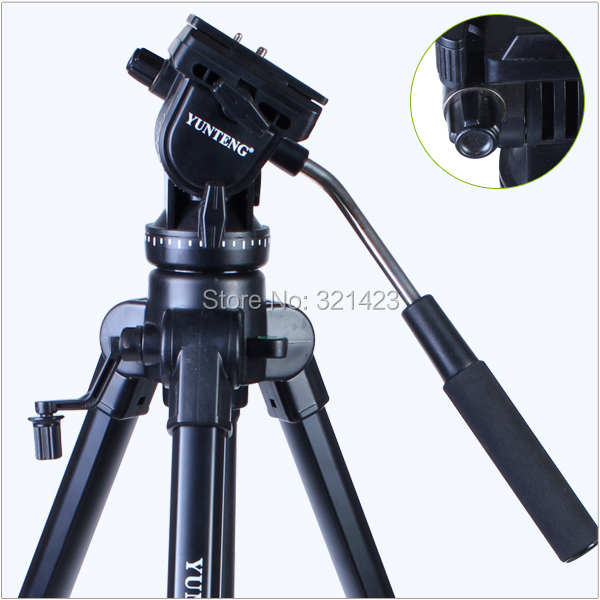 New Photographic Equipment Yunteng VCT 880 Aluminium Tripod for Canon Nikon Micro Film SLR Camera Tripod