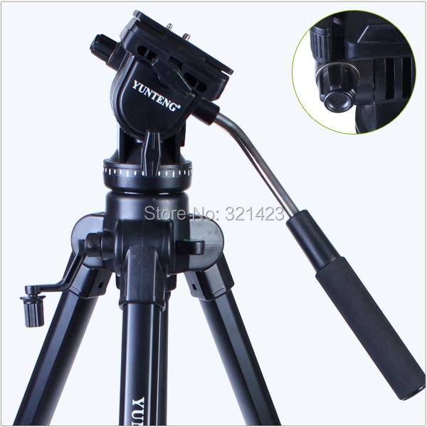Trépied professionnel Yunteng VCT-880 En Aluminium Trépied pour Canon et Nikon Micro Film SLR Caméra trépied de photographie