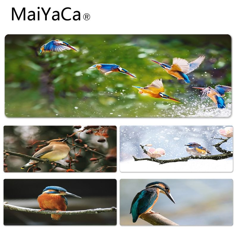 MaiYaCa Hot Sales Birds Stuck On A Branch Keyboard Gaming MousePads Size For 30x70cm 30x90cm Rubber Mousemats