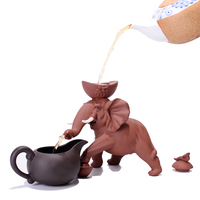 Elephant Tea Filter Zisha Teapot Strainer Tea Pet Tea Leakage With Fair Cups Set Creative Elephant Tea Play Free shipping