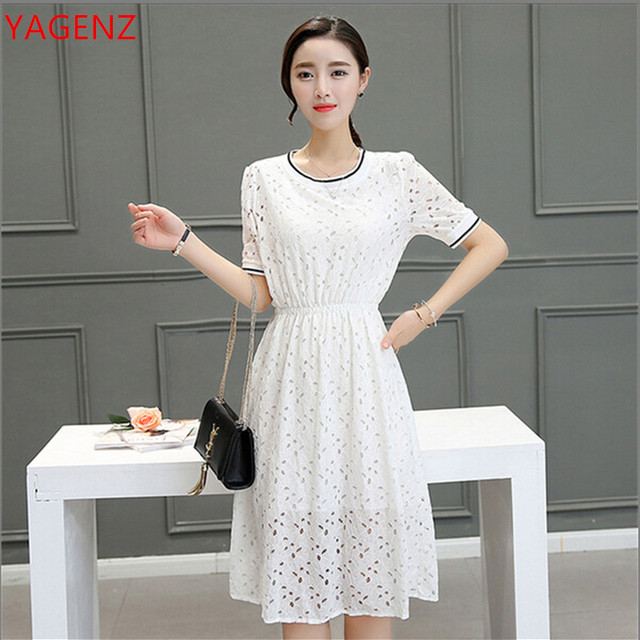 Yagenz Summer Dress Women Lace Dress Fashion New100 South Korean