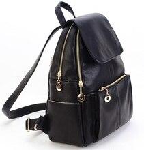 Новая Корея моды натуральная кожа сумка женщины рюкзак кожаный рюкзак школы женщин путешествия рюкзак для девочки Бесплатная доставка