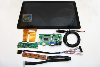 """HDMI + Audio Control LCD driver board + 13.3 """"capacitive touch assembly + 1920 x1080 LQ133M1JW03 IPS LCD screen DIY kits"""