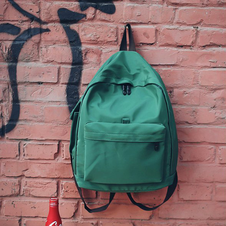 New 2018 Large Capacity Backpack Women Casual Solid Color School Bag Waterproof Nylon For Teenager Girls mochila feminina Gift ...