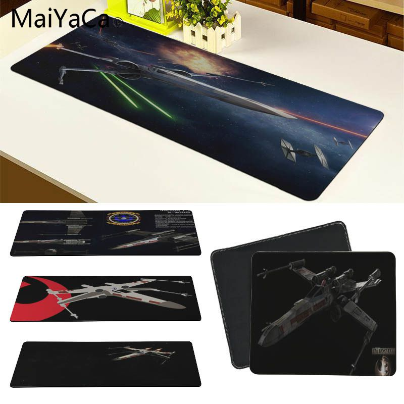 MaiYaCa Funny Fighter X Wing Customized laptop Gaming mouse pad Size for 180*220 200*250 250*290 300*600 and 300*900*2mm