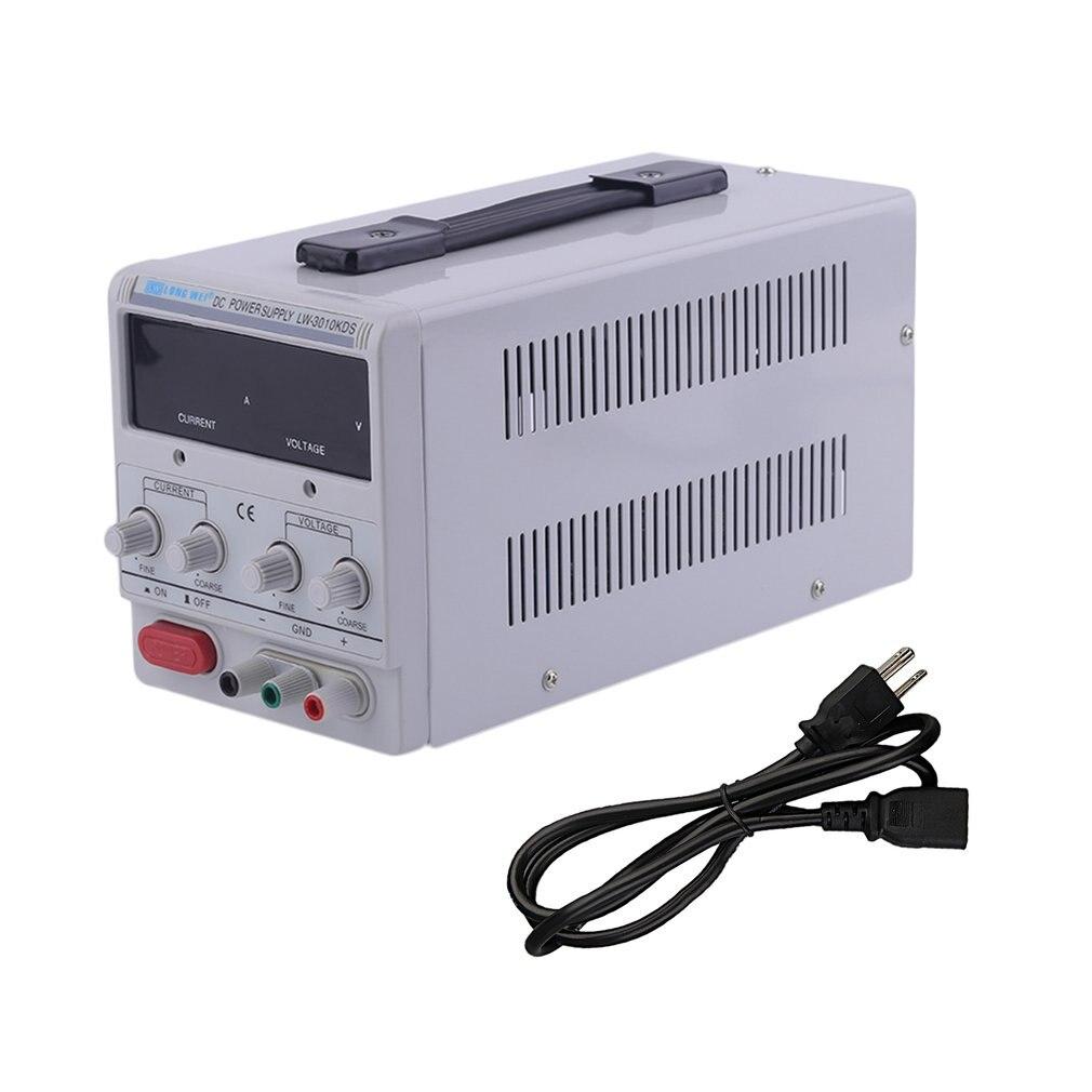 1 pièces universel 10A 30 V DC alimentation réglable double numérique Variable précision US Plug surcharge court-Circuit protection vente