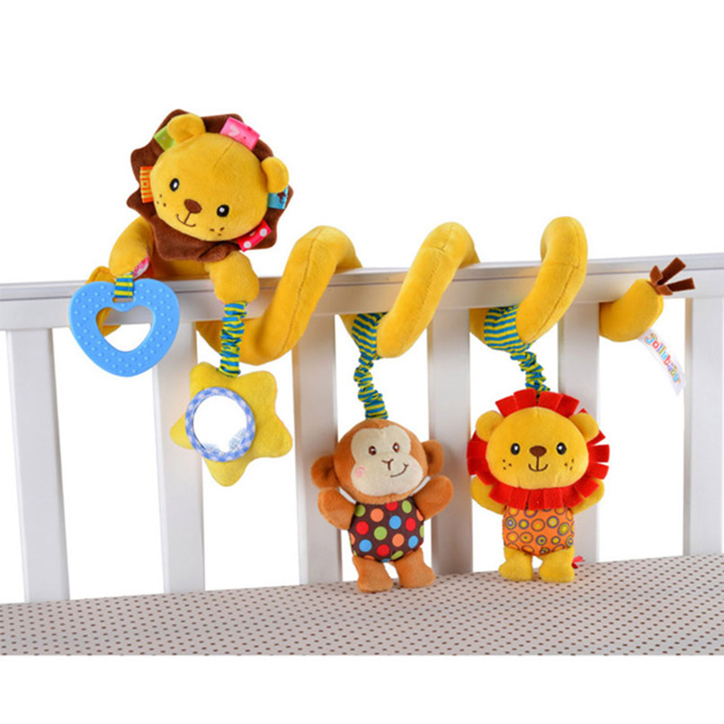 Lembut Bayi Crib Bed Stroller Mainan Spiral Bayi Mainan Untuk Bayi - Mainan balita - Foto 3