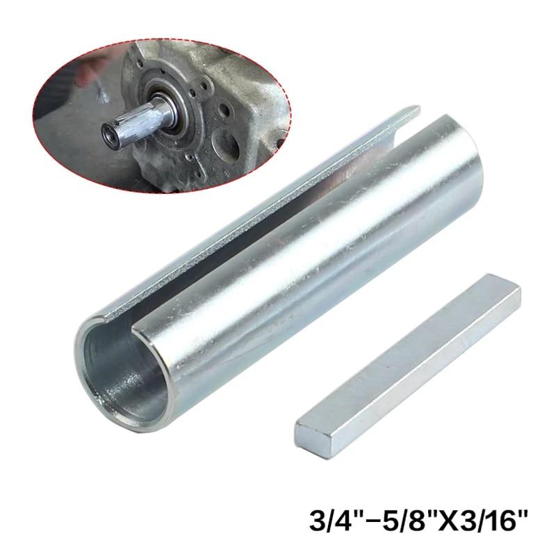 N+A 5//8 x 3//4 x 3 Shaft Adapter Pulley Bore Reducer Sleeve Bushing Sheave /& Key