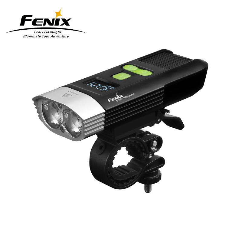 New Arrival Fenix BC30R 2017 High-performance Digital OLED Display Micro USB Rechargeable Bicycle Front Light with Kits цена
