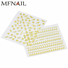 цена на 3D Water Transfer Nail Art Stickers,30Sheets/lot Gold Lace Striping Tape/Metallic Nail Decals Wraps,DIY Beauty Nail DecorationS