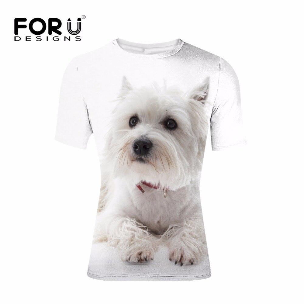FORUDESIGNS 3D Shih Tzu Printing T-shirt Men Clothing Summer t shirts Mens Boys Casual Elastic Tees Animal Tops Novelty Ukraine