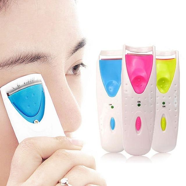 Women Makeup Electric Heated Eyelash Curler Long Lasting Eye Lash