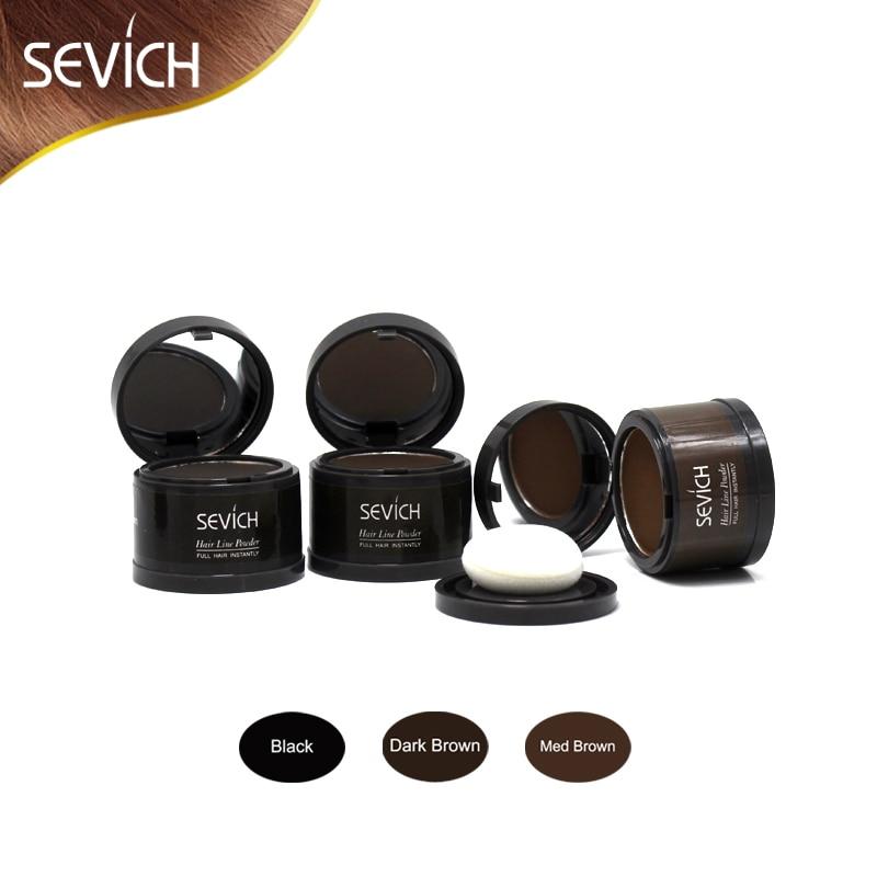 Sevich Hair Shadow Powders Baby Hairline Modified Repair Trimming Makeup Hair Buliding Fibers Natural Cover Edge Control