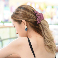 Black Large Hair Claw Headwear Butterfly Holding Salon Grip Fashion Ladies  Simple Clips Hairstyle Design Styling Tool