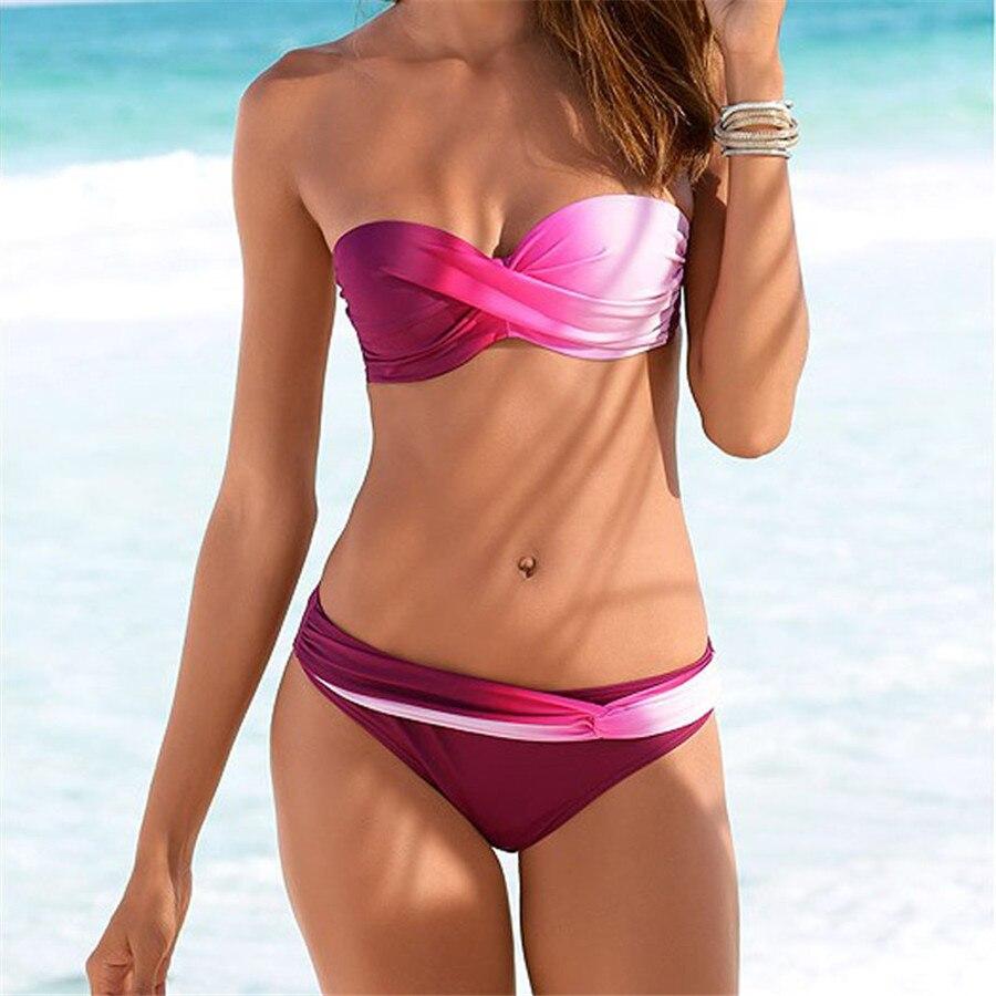 Maillot de bain bikini coloré
