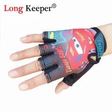 Крутые Детские перчатки для Размер для детей 5-13 лет спортивные перчатки полуперчатки Перчатки милые полу-митенки без пальцев для мальчиков и девочек, одежда для детей, G-085