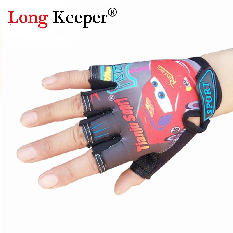 Orderly 2016 Cool Kids Gloves For 5-13 Years Sport Gloves Half-finger Gloves Cute Semi-fingerless Mittens For Boys Girls Children G-085 Skilful Manufacture Mother & Kids Gloves & Mittens