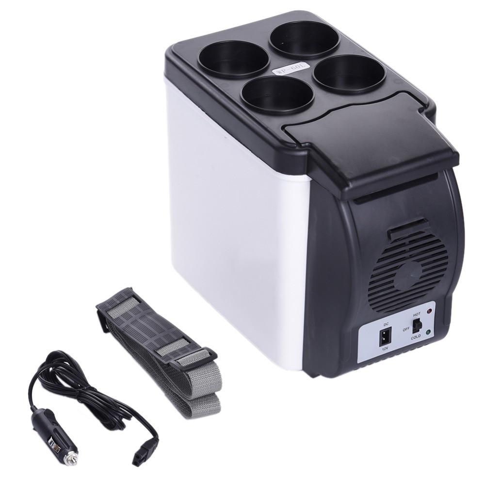 Baru 12 V Kulkas 6l Portabel Mini Hangat Cool Kendaraan Mobil Lemari Es Car Refrigerator Portable Simpan Minuman Dingin Freezer Panas Dan Fungsi Ganda Untuk Auto Rumah Di Dari