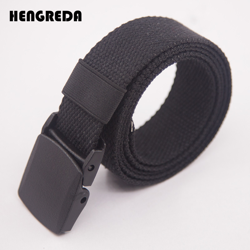 Canvas Waist Fashion Plastic Buckle Casual Cowboy Black Belts