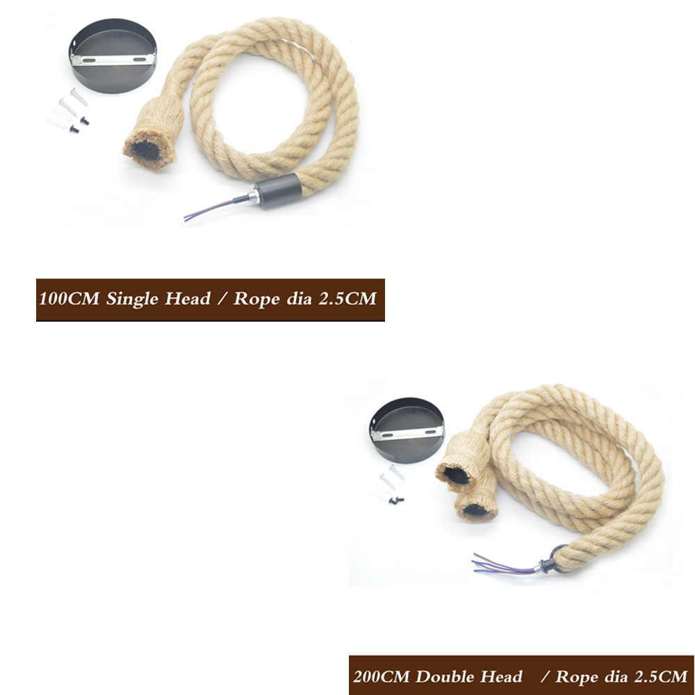 Винтажная пеньковая веревка подвесной светильник AC90-260V E27 для лофта творческой личности промышленный подвесной светильник для ресторана Кофе