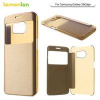 For Samsung Galaxy S6 Edge G925 Ultra Flip View Window Leather Phone Case For Samsung S6