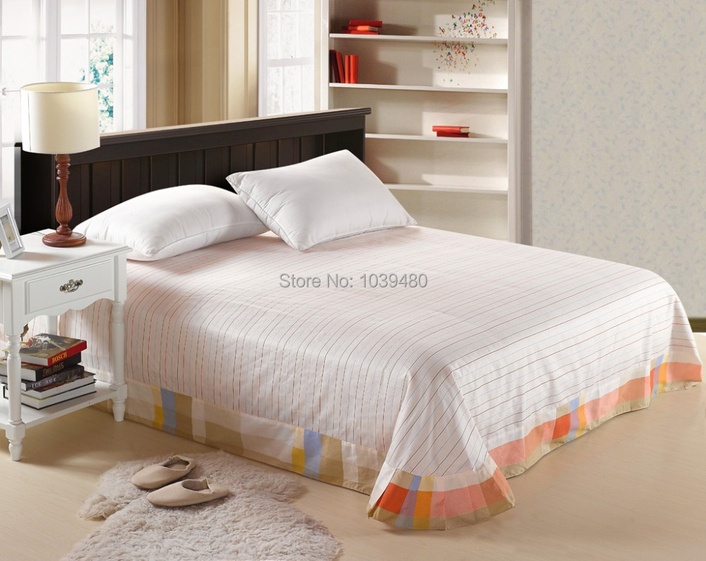 bed sheets bamboo picture  more detailed picture about   -   cotton flat sheet flower bedspread twinqueen king size stripesdot plaid bed