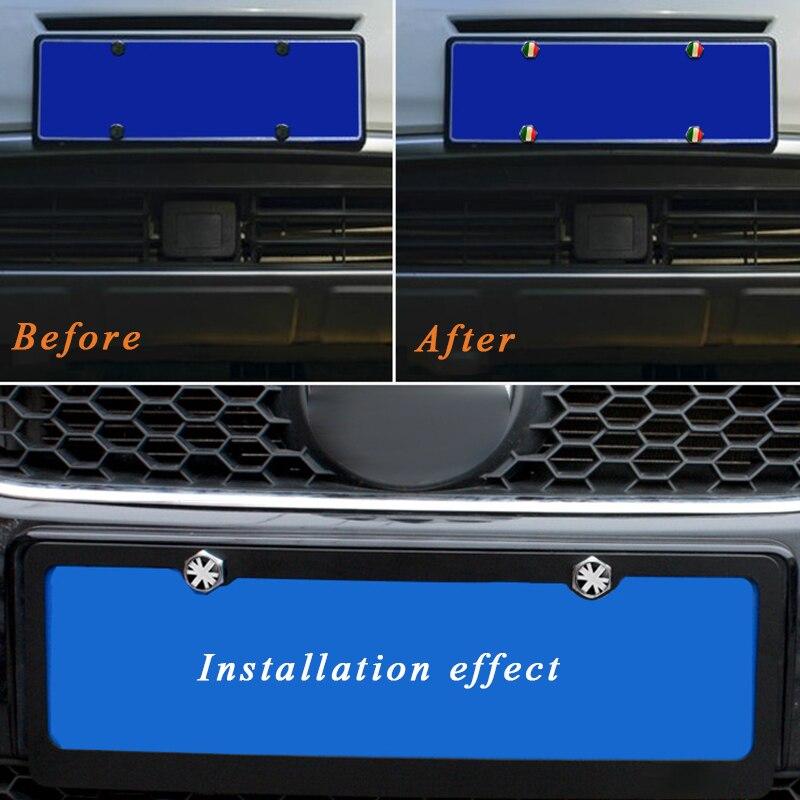 4 Teile/satz Auto Styling Nummernschild Rahmen Schrauben Schrauben ...