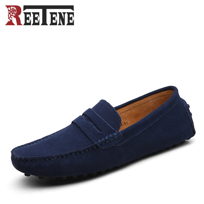 New Spring Autumn Soft Leather Men Casual Flats British Style Doug Shoes Men's Loafers Moccasins Male Driving Shoes Plus Size 47 цены онлайн