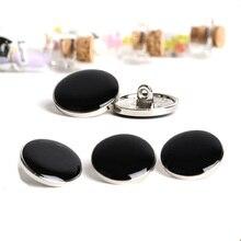 10 шт. металлические пуговицы для шитья скрапбукинга круглые черные с одним отверстием Costura Botones Decorate bottoni botoes