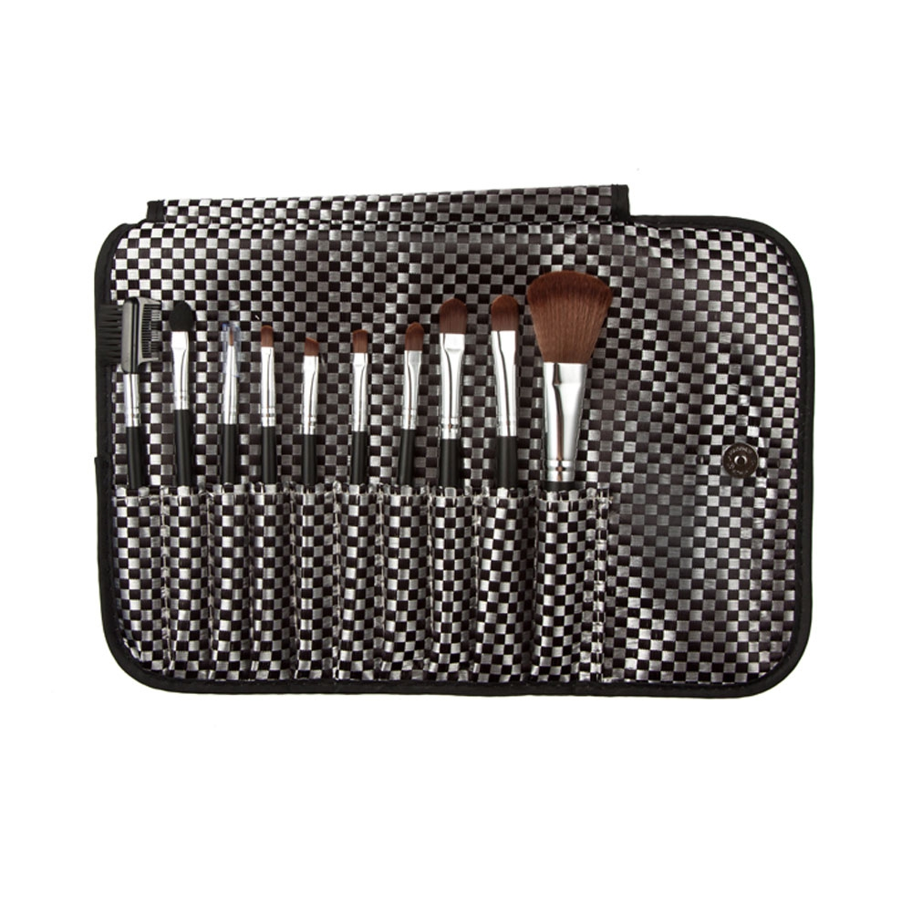 Makeup Brushes Tool Set With Lattice Synthetic Fibers Storage Bag High Grade Nylon Make-up Tool Kits Easy To Clean Suitable Tool jcpal 2017 tigernu men s backpacks anti thief mochila for laptop 14 15inch notebook computer bags men backpack school rucksack