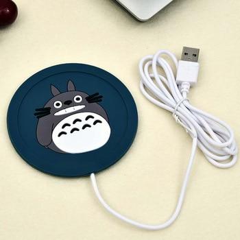 Cute Cartoon 5V USB Warmer Silicone Heat Heater for Milk Tea Coffee Mug Hot Drinks Beverage Cup Mat Kitchen Tools Heater newest 6