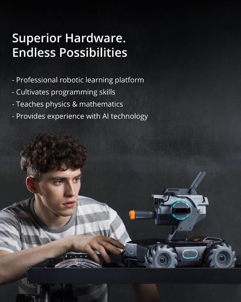 DJI RoboMaster S1, an intelligent educational robot