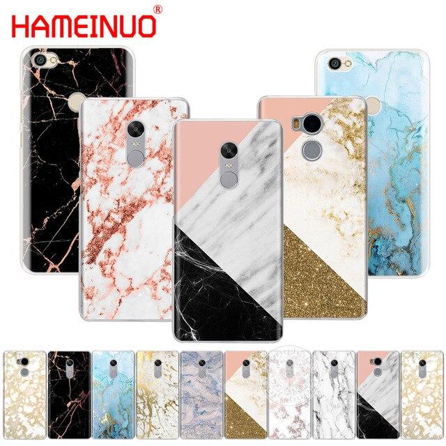 6738a1eaceb Carcasa de teléfono carcasa de plástico duro de impresión collage de mármol dorado  para Xiaomi redmi 5 4 ...