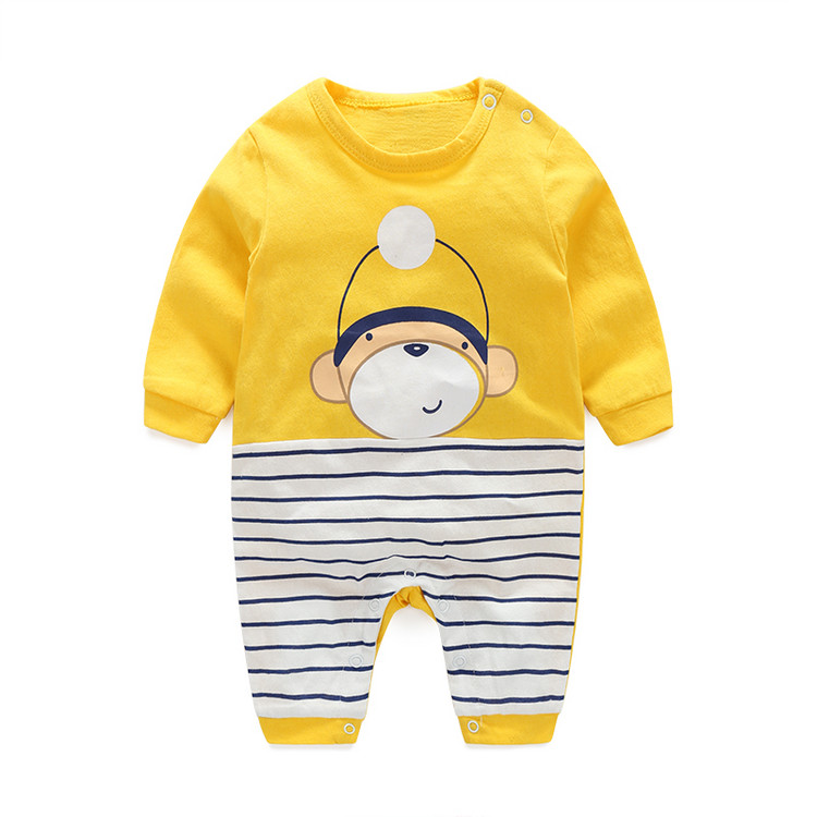 baby clothes new winter autumn spring infant/kids clothes  100%cotton rompers boys and girls stripe jumpsuits new 2016 autumn winter kids jumpsuits newborn baby clothes infant hooded cotton rompers baby boys striped monkey coveralls